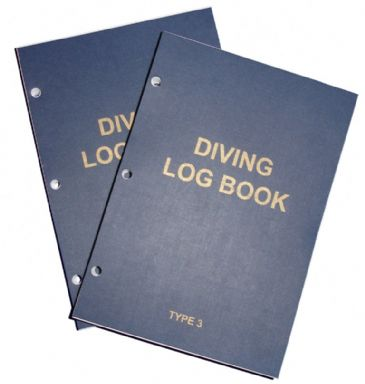 PDC 10 BOOK LOGBOOK DIVING <BR> TYPE 3 INSERTS